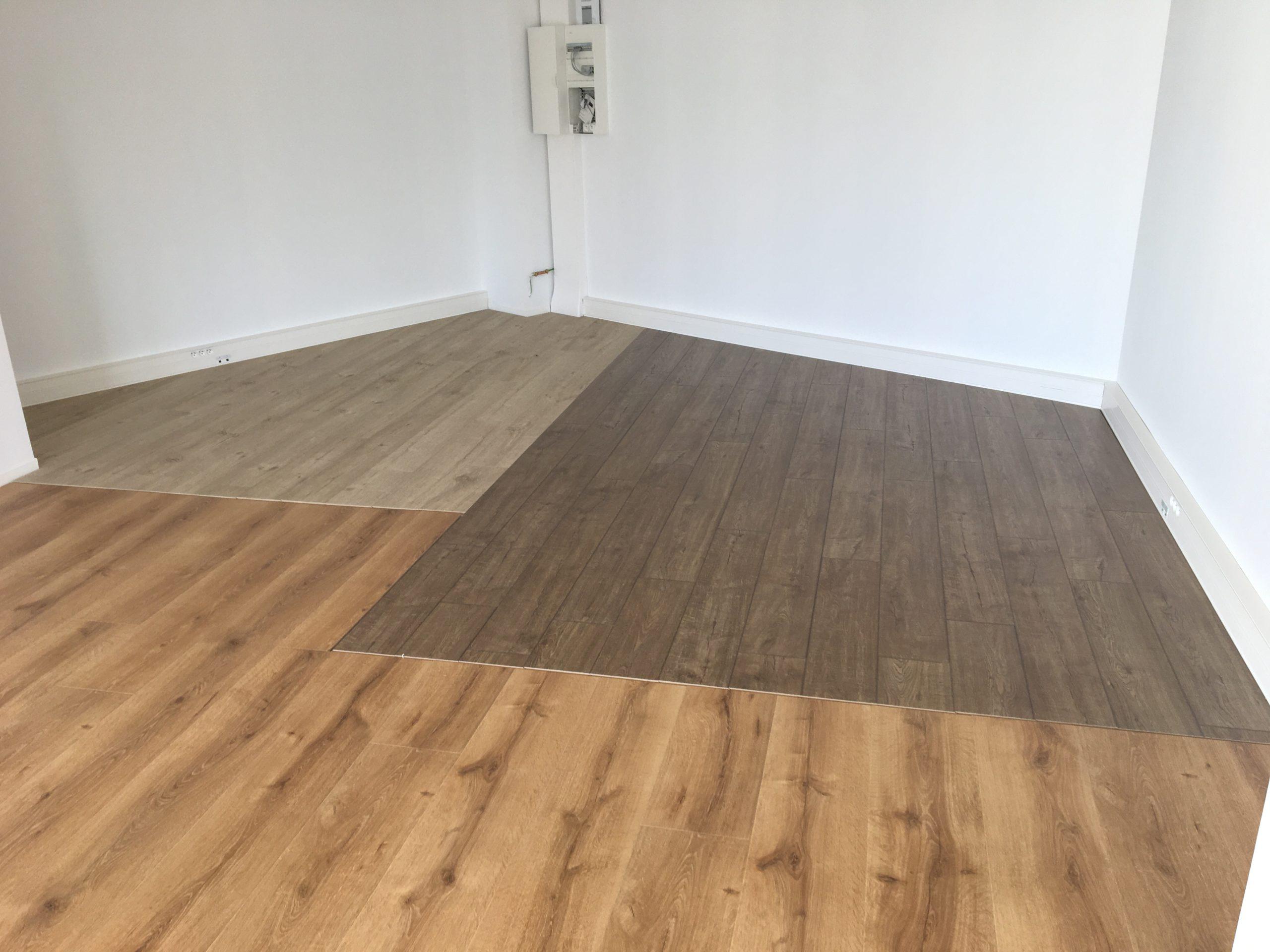 installation parquet bureau